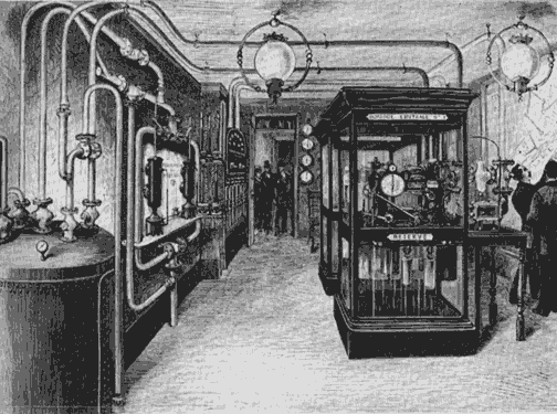 34 North 118 West, The Interpretive Engine for Various Places in the World, The control room at the Rue du Telegraphe in Paris.  Source : [http://engine.34n118w.net/WEBS/LINKS.html]