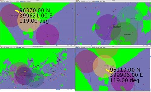 Audio Nomad, Syren, Interface cartographique du logiciel de contrôle. Source :[http://www.sonicobjects.com/index.php/projects/more/audionomad_syren/]