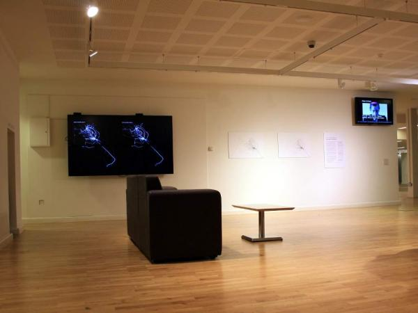 Daniel Belasco Rogers, A Day in The Life, 2011, Vue de l'intallation, Mac, Birmingham. Source :[http://planbperformance.net/index.php?id=danmapping#c273]