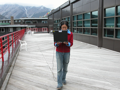 Paula Levine, Speaking Here, Banff Center, Alberta  Source :[http://paulalevine.net/projects/speakinghere/speakinghere.html]