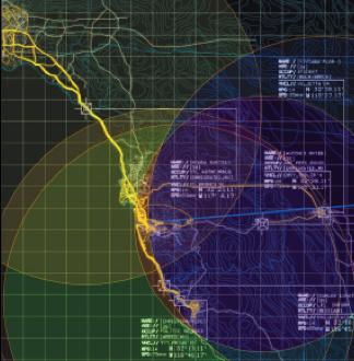 Torolab, LRPT,  Vue de l'interface graphique Source :[http://senseable.mit.edu/news/resources/20080220_MoMACatalogue.pdf]