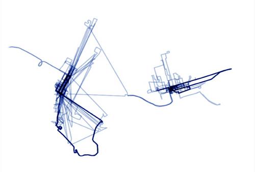 Gwen MacGregor, 3 Month Toronto / New York, image extraite de la vidéo  Source : [http://www.jessicabradleyartprojects.com/artists/gwen_macGregor/image?image_id=110]